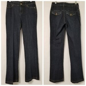 The Limited Jeans Flap Pockets Dark Wash Size 4